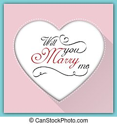 Will you marry me calligraphy card