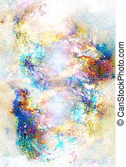 Cosmic space and stars, color cosmic abstract background....