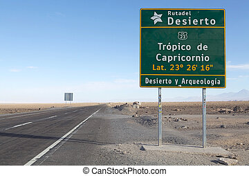 trópico, Capricórnio,  Chile
