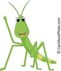 Praying mantis grasshopper cartoon - illustration of Praying...