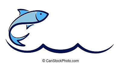 Logo fish with wave.