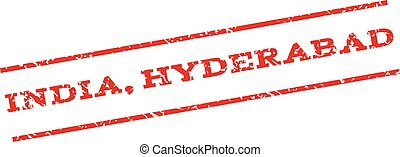India Hyderabad Watermark Stamp - India Hyderabad watermark...
