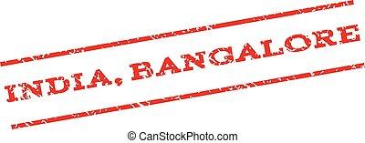 India Bangalore Watermark Stamp - India Bangalore watermark...