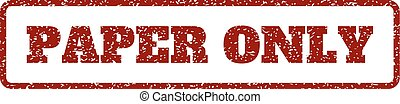 Paper Only Rubber Stamp