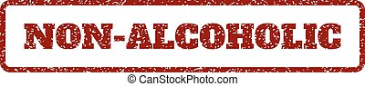 Non-Alcoholic Rubber Stamp - Dark Red rubber seal stamp with...