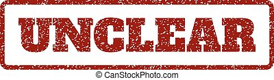 Unclear Rubber Stamp - Dark Red rubber seal stamp with...