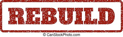 Rebuild Rubber Stamp - Dark Red rubber seal stamp with...