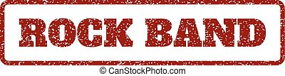 Rock Band Rubber Stamp