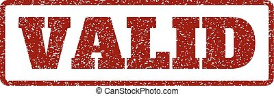 Valid Rubber Stamp - Dark Red rubber seal stamp with Valid...