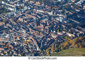 Aerial view of Freiburg, Germany - Aerial view of the city...