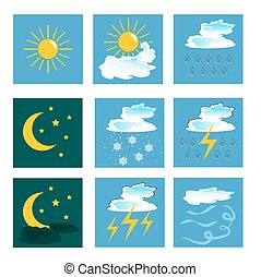 weather icons. set. vector