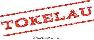 Tokelau Watermark Stamp - Tokelau watermark stamp. Text...