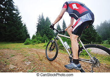 mountain bike outdoor ride - healthy lifestyle and fitness...