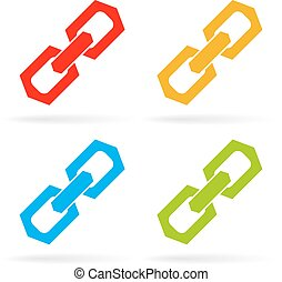 Chain link icon - Chain link vector icons set