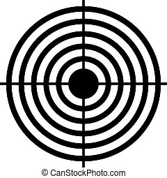 Shooting target aim icon