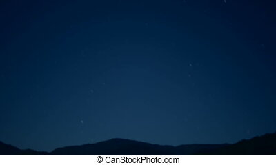 Beautiful time lapse HD stock footage of stars passing over...