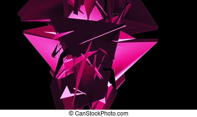 Geometric magenta abstract VJ looping CG - Animated...