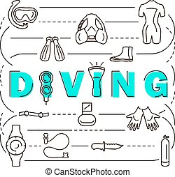 Banner scuba diving equipment