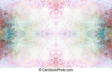 ornamental, manchas, abstratos,  Multicolor, fundo, Padrão
