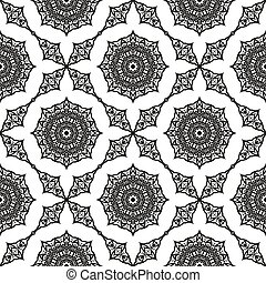 Oriental Geometric Ornament - Ornamental Seamless Line...