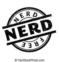 Nerd rubber stamp. Grunge design with dust scratches....