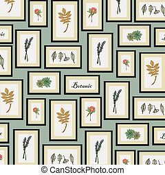 It is a background image of botanic pattern in the frame.