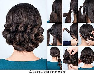 hairstyle braid for long hair tutorial - Hair tutorial....