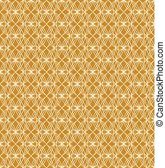 Seamless background image of yellow oval shape cross line...