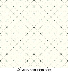 Seamless background image of vintage check dotted line and...