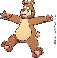 Scared bear - Scared cartoon bear. Vector clip art...
