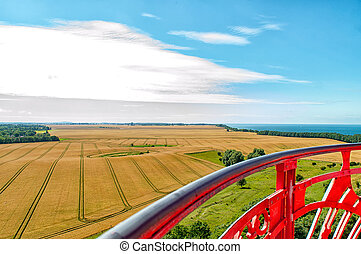 Grain fields at Cape Arkona in Ruegen - Large grain fields...