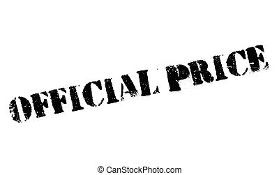 Official Price rubber stamp. Grunge design with dust...
