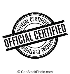 Official Certified rubber stamp. Grunge design with dust...