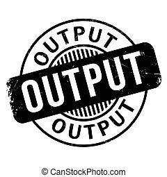 Output rubber stamp. Grunge design with dust scratches....
