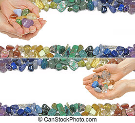 Two Crystal Healing Website Banners - Two versions of a...