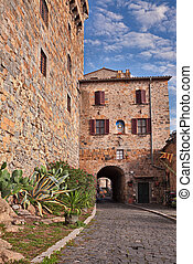 ancient alley in Bolsena, Viterbo, Lazio, Italy - Bolsena,...
