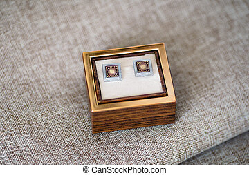 cufflinks in a box - beautiful cufflinks in a box on the...