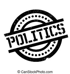 Politics rubber stamp. Grunge design with dust scratches....