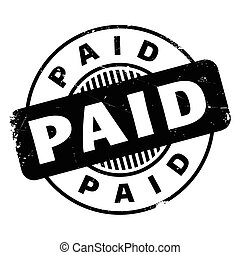 Paid rubber stamp