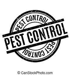 Pest Control rubber stamp. Grunge design with dust...