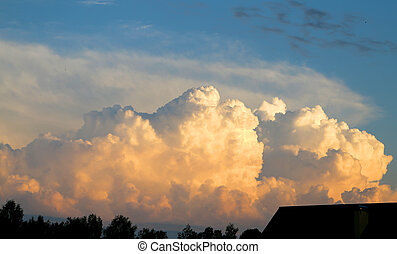 Fhoto sky with clouds - Excellent photo sky with clouds on...