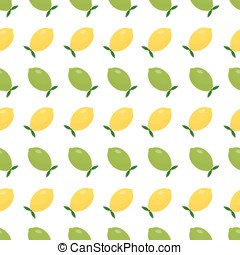 Yellow and green lime. Seamless pattern.