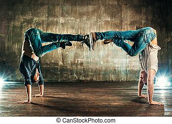 Break dancers team
