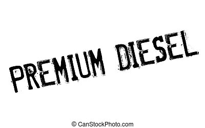 Premium Diesel rubber stamp. Grunge design with dust...