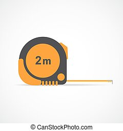 Measure roulette. Vector illustration. - Tape-line isolated...