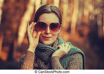 Woman autumn portrait
