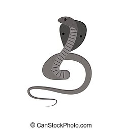 Cobra snake vector - Cobra Snake coiled and ready to showing...