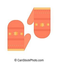 Christmas mitten illustration. - Christmas wool mitten...