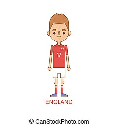 National england soccer football player vector illustration