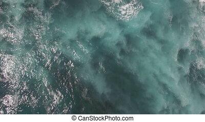Aerial waterscape of blue ocean - Aerial shot of blue ocean....